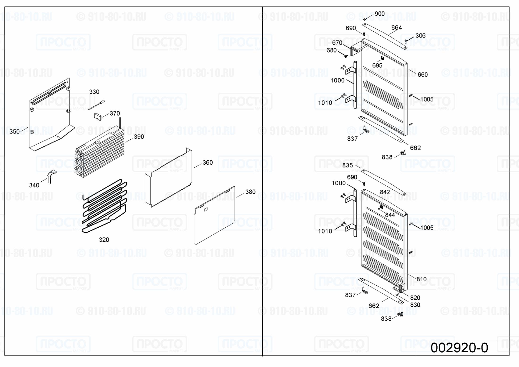 Взрыв-схема холодильника Liebherr SBNes 2901-20