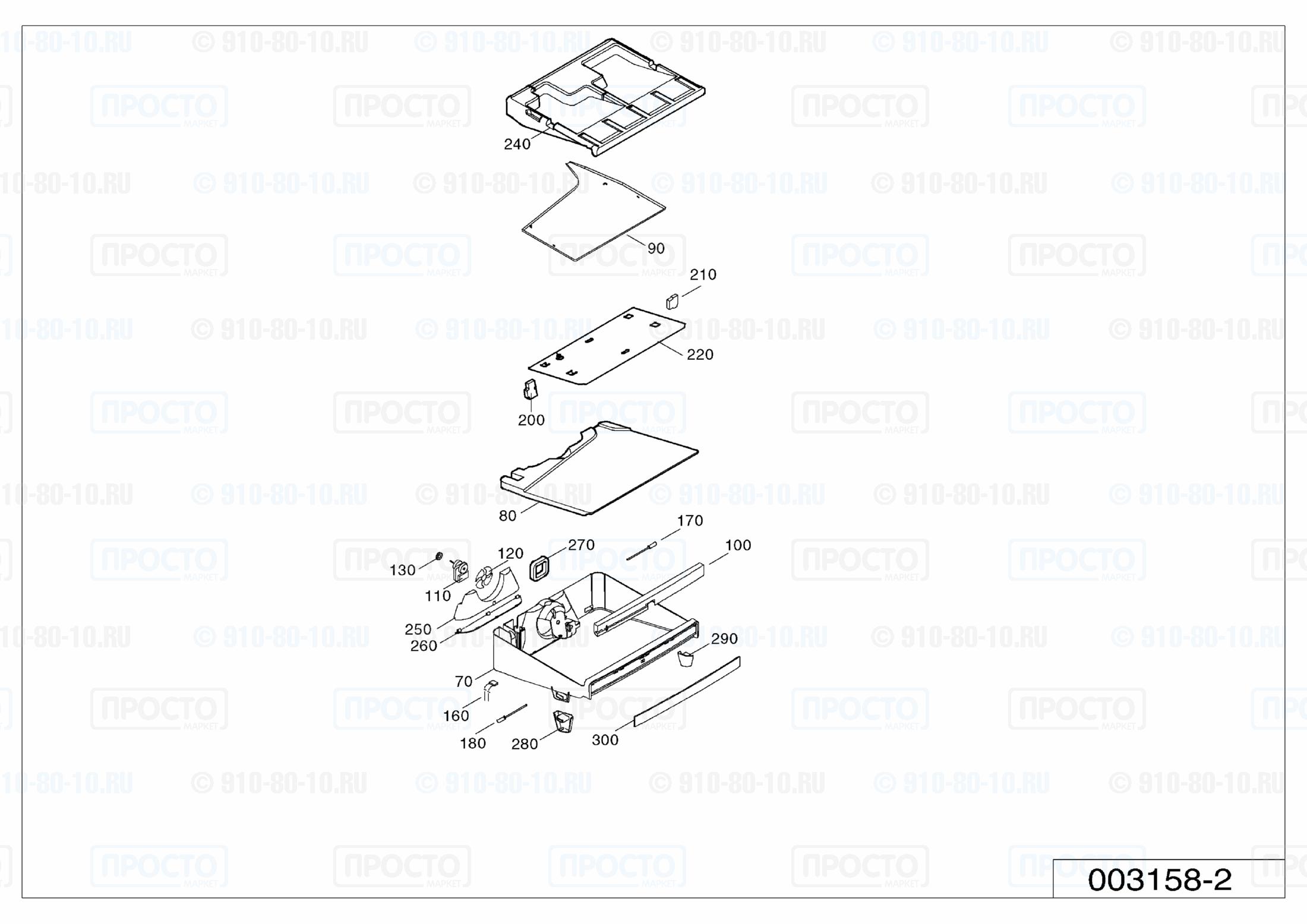 Взрыв-схема холодильника Liebherr B 2756-20