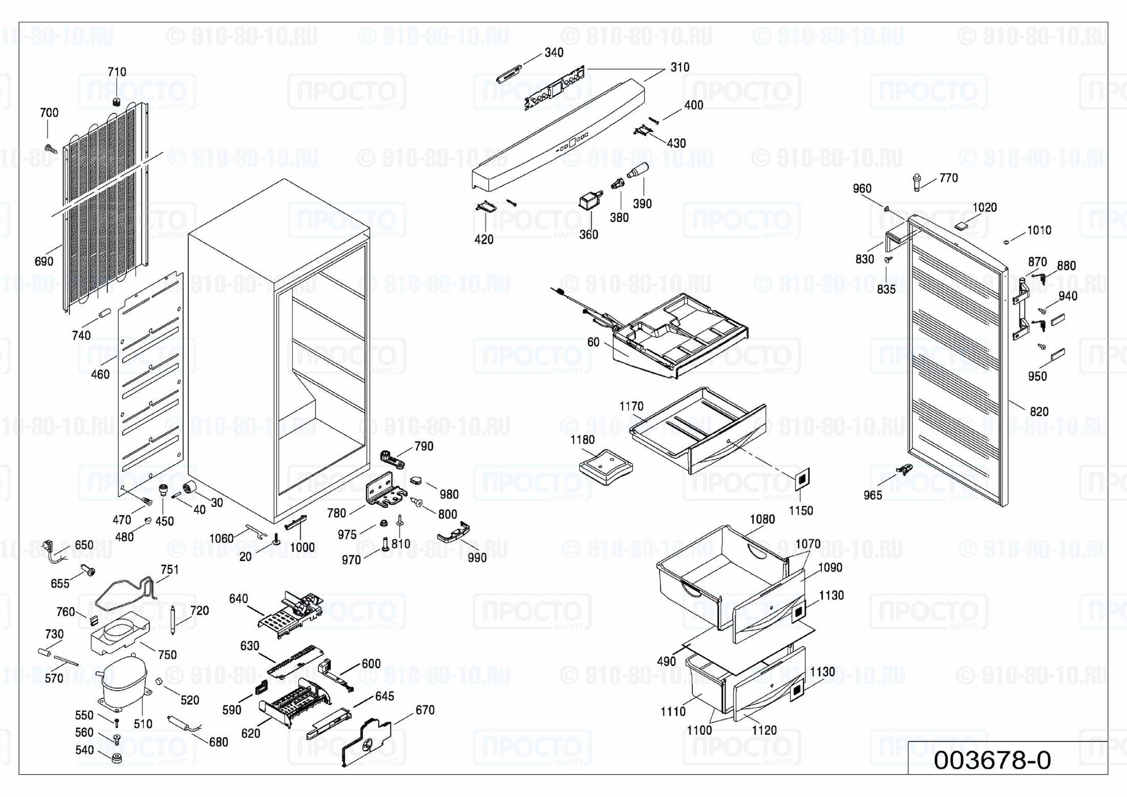 Взрыв-схема запчастей холодильника Liebherr B 2756-20