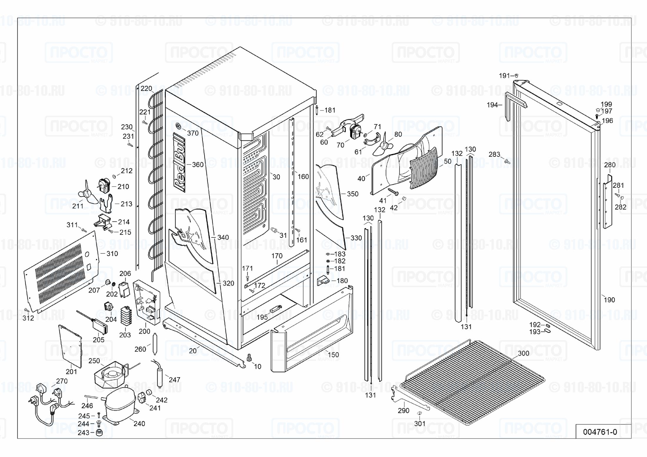 Взрыв-схема запчастей холодильника Liebherr FC 2913-10