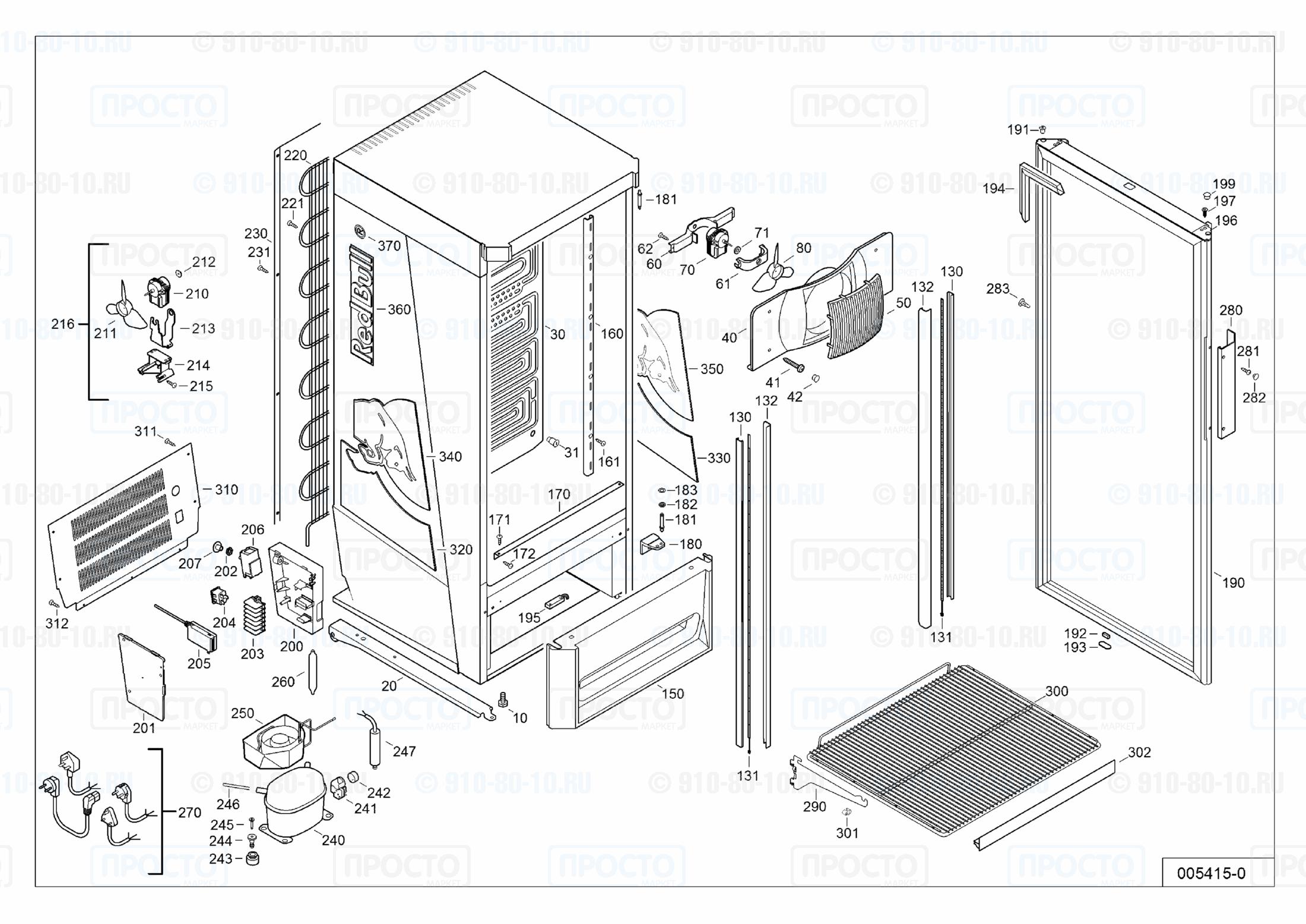 Взрыв-схема запчастей холодильника Liebherr FCsl 2813-23A